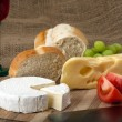 Norwegian Jarlsberg and Camembert — Stock Photo