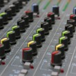 Audio mixing board console — Stock Photo #8813293