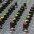 Royalty-Free Stock Photo: Audio mixing board console