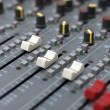 Stock Photo: Audio mixing board console