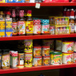 Hot sauce on store shelf - Stock fotografie
