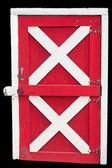 Isolated barn door — Stock Photo