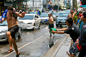 Thai new year (Songkran) celebration in Chiang Mai, Thailand — Stock Photo