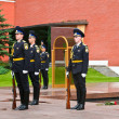 Stock Photo: Ceremony of changing guards in Moscow Kremlin