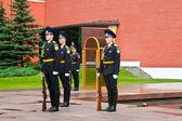 Zeremonie des änderns wachen im moskauer kreml — Stockfoto