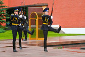 Ceremony of changing guards in Moscow Kremlin — Stock Photo