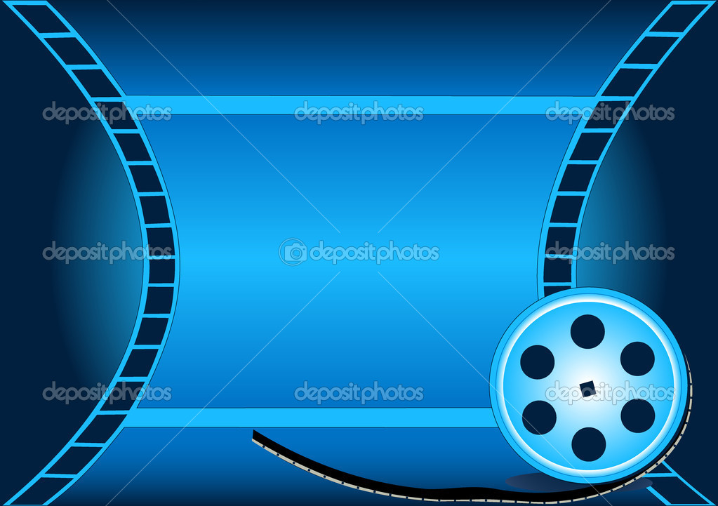 Illustration of the cinema background with winning tale and coil  Stock Vector #8893933