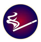 Logo cigarette with smoke — Stock Vector
