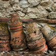 Old clay pots — Stockfoto