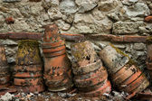 Old clay pots — Stock Photo