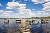 Fishing bridge — Stock Photo