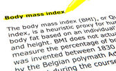 BMI - Body Mass Index — Stock Photo