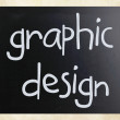 """Graphic design"" handwritten with white chalk on a blackboard — Stock Photo #10212558"