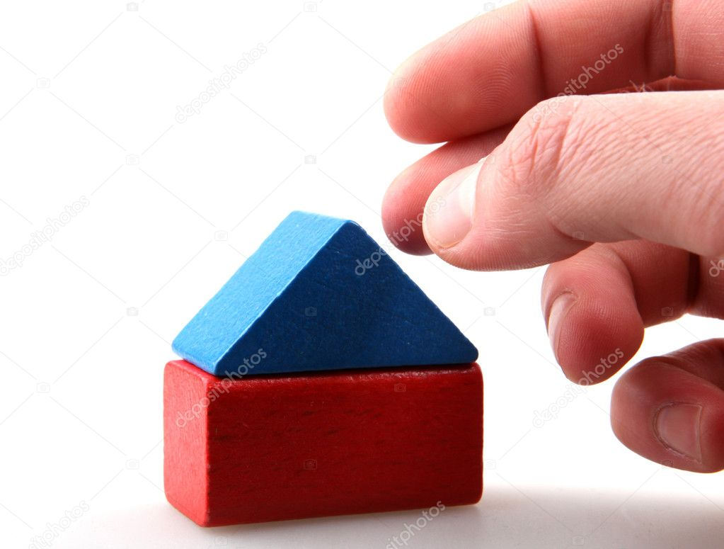 Wooden building blocks. — Stock Photo #10228238