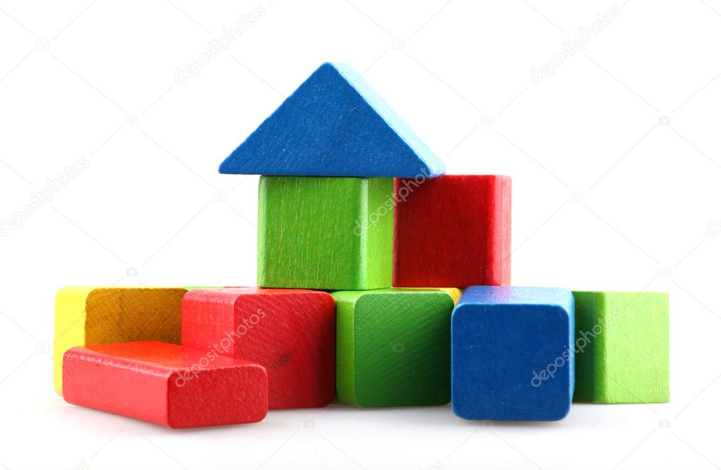 Wooden building blocks. — Stock Photo #10240345