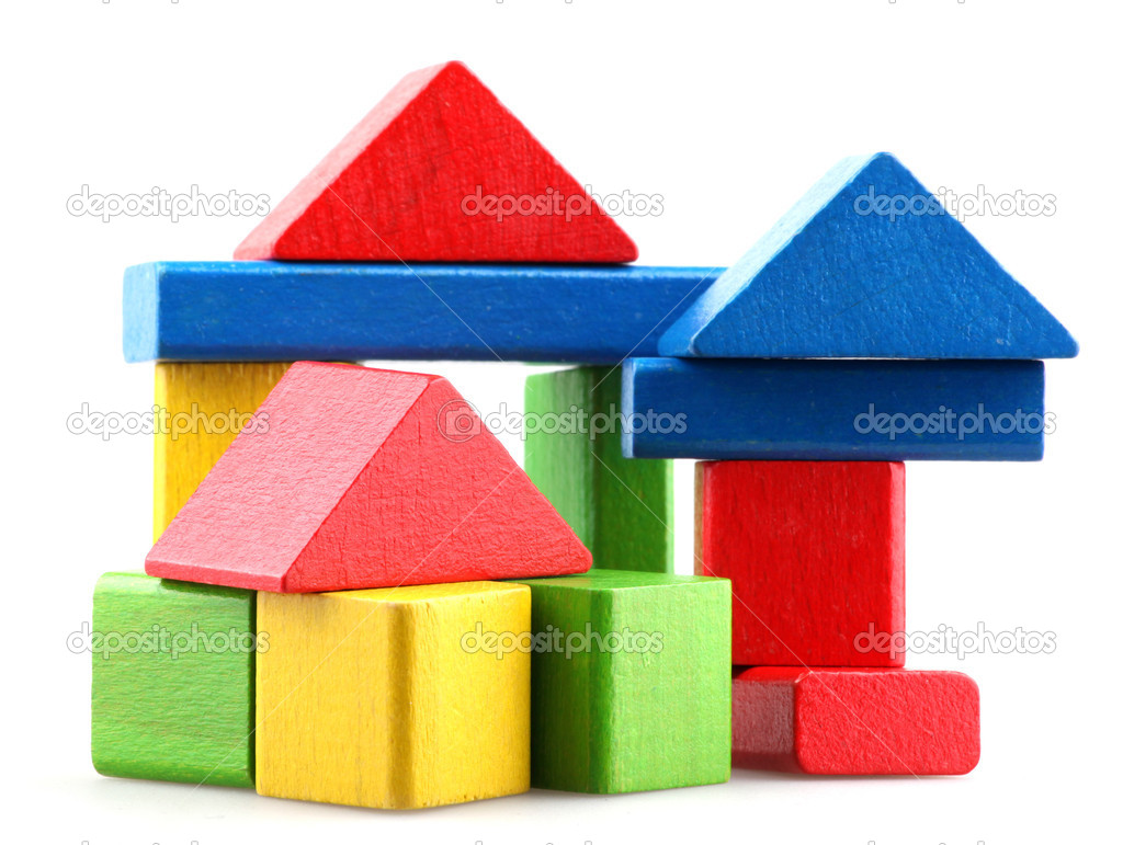 Wooden building blocks.  Stock Photo #10240350