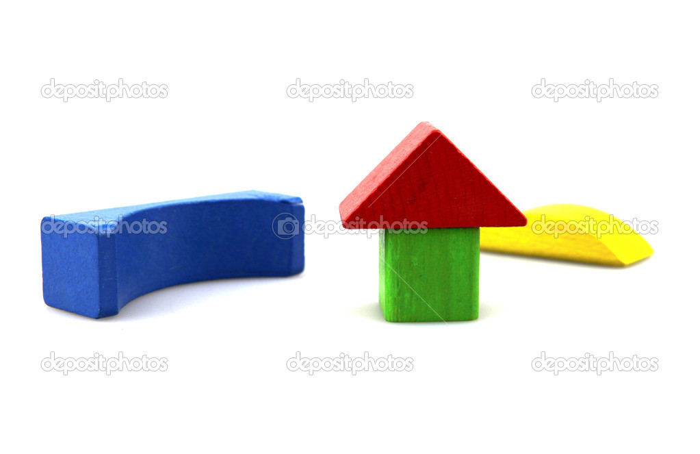 Wooden building blocks. — Stock Photo #10355924