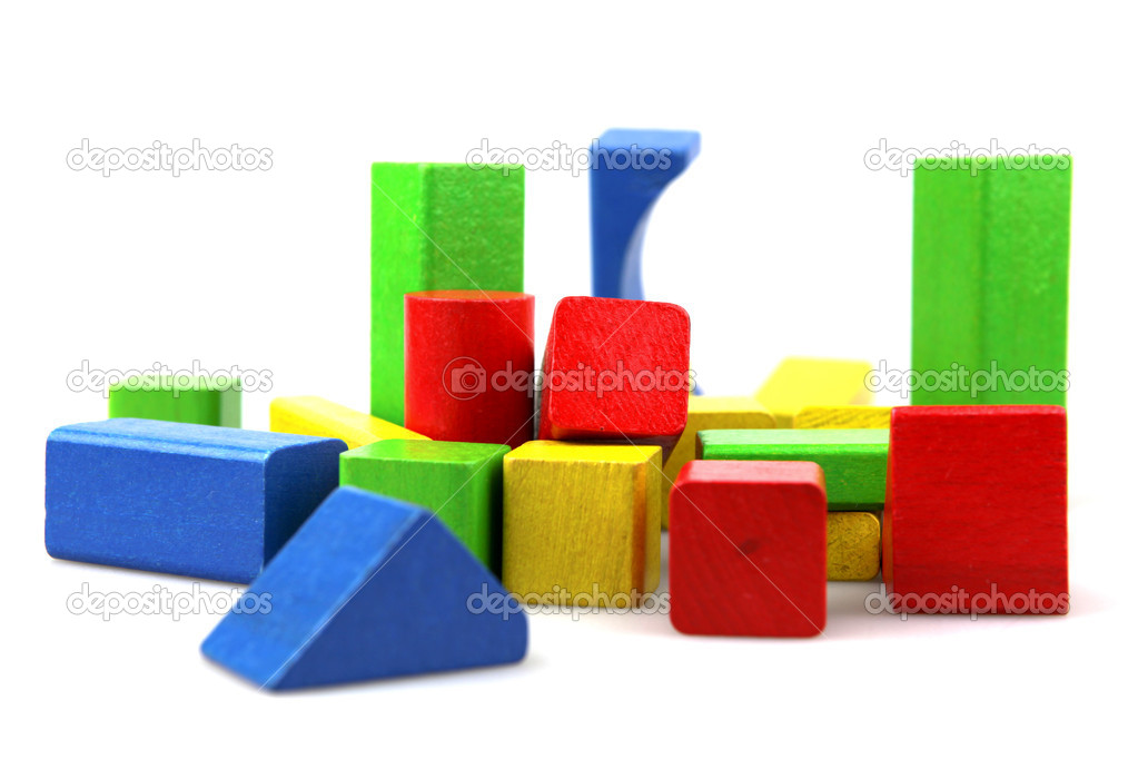 Wooden building blocks. — Stock Photo #10355967