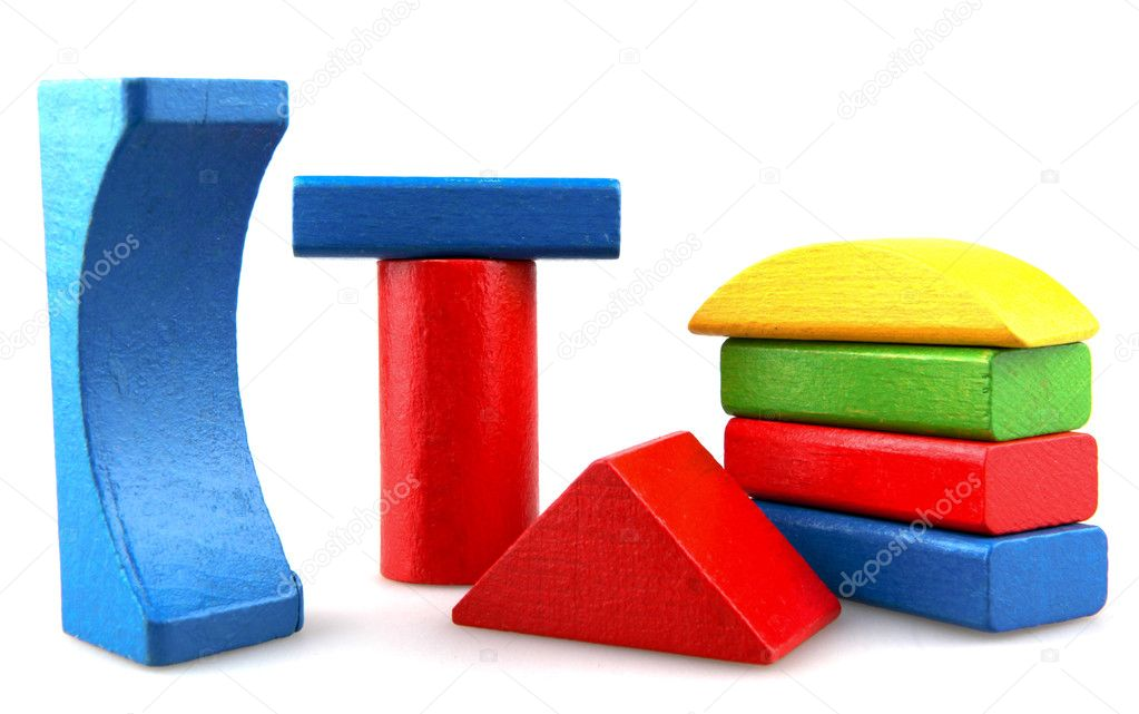 Wooden building blocks. — Stock Photo #10356194
