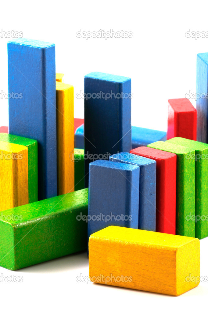 Wooden building blocks. — Stock Photo #10356214