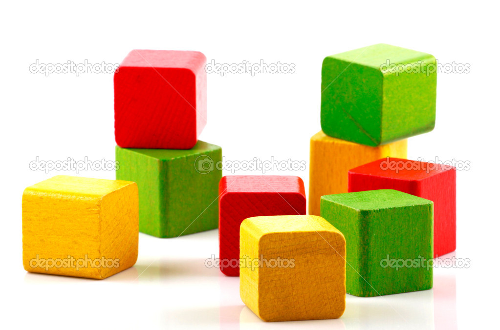 Wooden building blocks. — Stock Photo #10356245