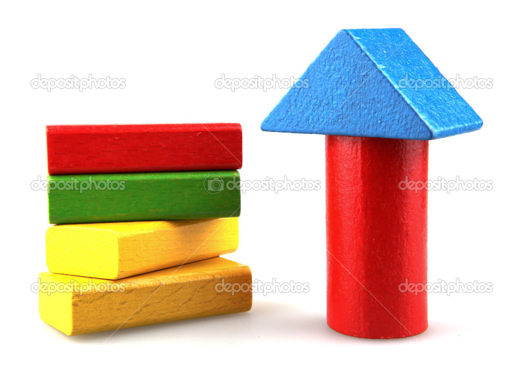 Wooden building blocks. — Stock Photo #10356251