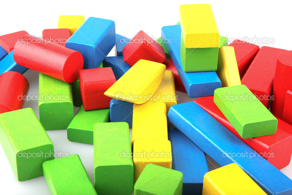 Wooden building blocks. — Stock Photo #10356317