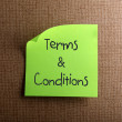 Stock Photo: Terms & Conditions