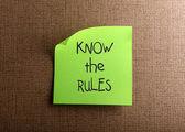 Kuralları biliyorsunuz — Stok fotoğraf