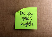 Do you speak english — Stock Photo