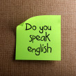 Do you speak english — Stockfoto