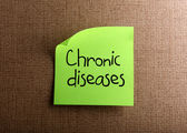 Chronic diseases — Foto Stock