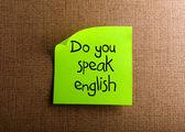 вы говорите по-англиский — Стоковое фото