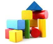 Dřevěné stavební bloky — Stock fotografie