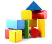 Wooden building blocks — Stockfoto