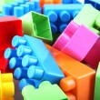 Plastic toy blocks - Stock fotografie