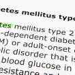 Diabetes mellitus type 2 - Stock Photo