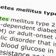 Foto de Stock  : Diabetes mellitus type 2