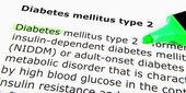 2 型糖尿病患者 — 图库照片