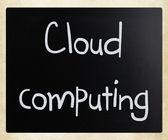 """Cloud computing"" handwritten with white chalk on a blackboard — Stock Photo"
