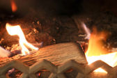 Fire in a fireplace — Stock fotografie
