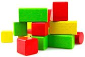 Wooden building blocks — Стоковое фото
