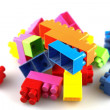 Plastic building blocks — Stock fotografie