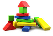 Plastic building blocks — Foto de Stock