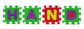 Alphabet puzzle stück auf weißem hintergrund — Stockfoto