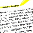 BMI - Body Mass Index — Foto de stock #9389444
