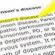 Parkinson's disease - Foto de Stock