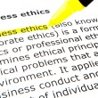 Business ethics - Foto Stock