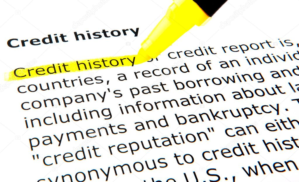 Credit history — Stock Photo #9389463