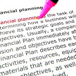 Financial planning — Stock Photo